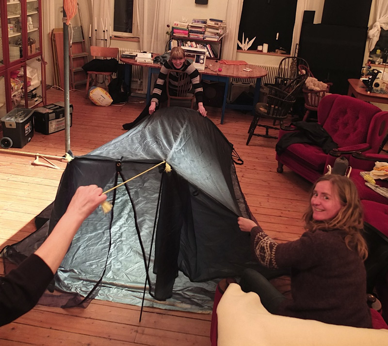 testing of the tarptent indoor