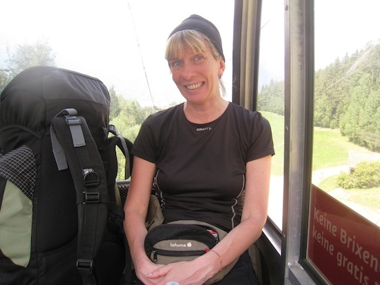 Me in the cable car