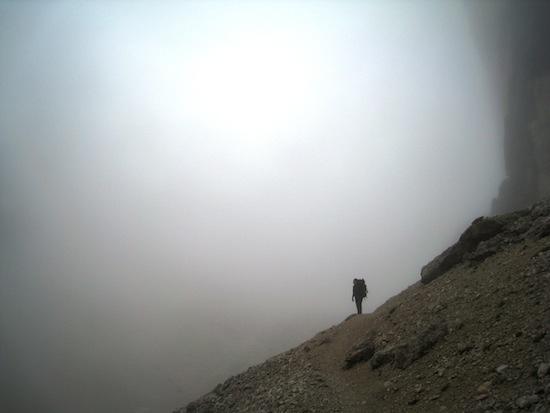 Heiða in the fog