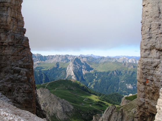 The view from rifugio Forcella