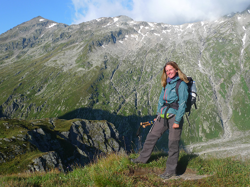 Anna in the mountains