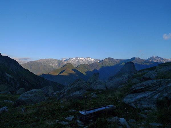 Morning view from Capanna Scaradra