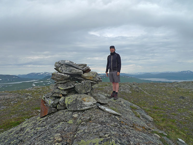 At the top of Långfjället