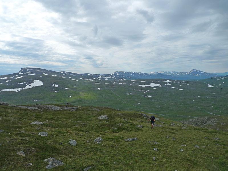 The climb up (Långfjället)